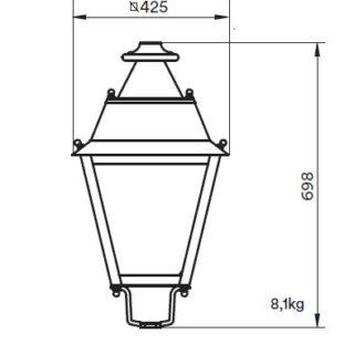 Latarnia LED wymiary