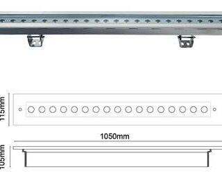Lampa liniwa podwodna IP68 100cm 1000mm