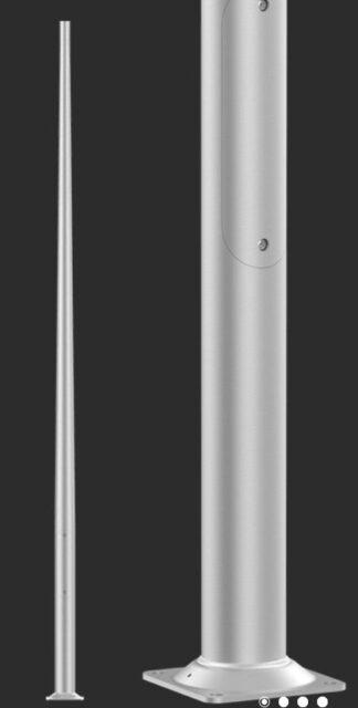 słup aluminiowy anodowany 4m
