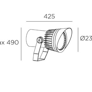 Reflektor 92W DALI